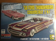 '58 Ford Thunderbird 2 'n 1  Monogram Car Show 1/24 scale kit#85-4280 sealed/NIB
