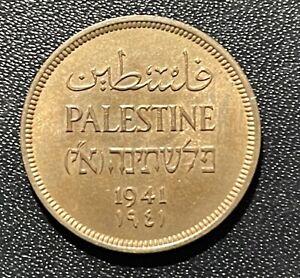 Palestine 1941 One Mil Bronze Coin