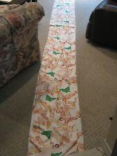 JAPANESE SILK KIMONO FABRIC BOLT Green & Orange Butterflies 13.2 Yards