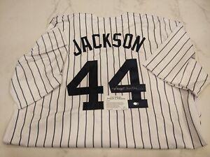 Reggie Jackson Signed Auto Jersey New York Yankees HOF Leaf COA Replica