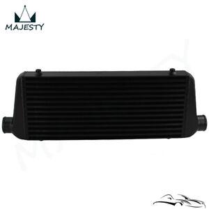 "Universal Aluminum FMIC Front Mount Intercooler 2.25"" 550x230x65mm Black"