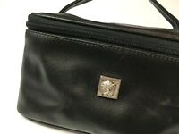 GIANNI VERSACE VINTAGE '90s ALL LEATHER VANITY BAG MEDUSA ITALY MAKEUP ITALY