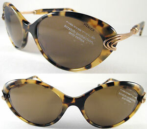 VINTAGE & RARE NEOSTYLE LEOPARD LADIES SUNGLASSES COPPER PLATED SILVER BROWN.