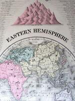 Eastern Hemisphere World sphere Torrens hook 1887 Mitchell Bradley old map