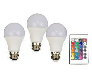 X4-LIFE LED-Leuchtmittel RGB+W/ LEd glühbirne 3-er Set