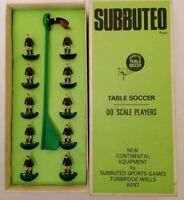 Subbuteo - Table Soccer - 78 - Black / Green Stripes - Coventry 2nd - 70s