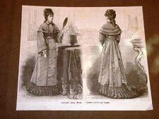 Moda e costume in Italia nel 1877 Mantello Carrick da viaggio per signora