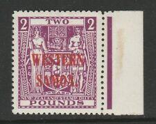 More details for samoa 1945-53 £2 bright purple sg 212 mint.
