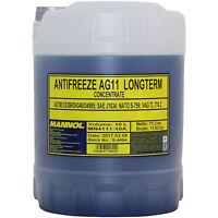 10 L Original MANNOL Antifreeze AG11 Kühlflussigkeit Plastic Frostschutz  blau