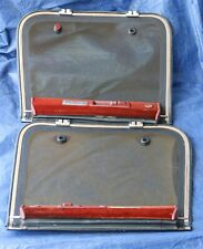 1984-1989 OEM Nissan Datsun 300ZX T-Tops Glass Set Sun Roof Coupe Pair Red