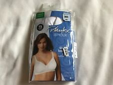 34d84e8531c51 B2 Playtex 18 Hour Wirefree Bra Sensationally Sleek Smooth Women 38DD white