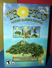 Tropico: Master Player Edition PC CD-Rom with Box. Includes 3 Games