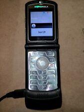 Motorola RAZR V3 - Black ( AT&T ) GSM Cellular Flip Phone Works!