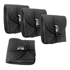 4pcs Replacement Scuba Diving Weight Belt Pocket with Quick Release Buckle