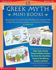 15 Greek Myth Mini-Books: Reproducible Comic Book-Style Retellings That