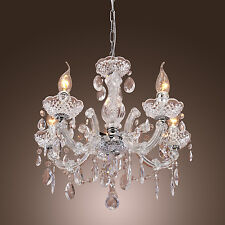 Elegant Crystal Chandelier Lighting 5 Light Fixture Pendant Ceiling Lamp glasses