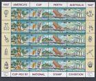 1987 COCOS ISLANDS SAILCRAFT SHEETLET CUP-PEX '87 OVERPRINT FINE MINT MUH/MNH