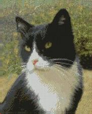 "Black & White Cat 2 Counted Cross Stitch Kit 9.8"" x 8"""