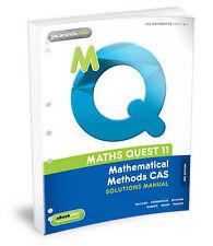 Maths Quest 11 Mathematical Methods CAS Solutions Manual 3E Flexisaver... New