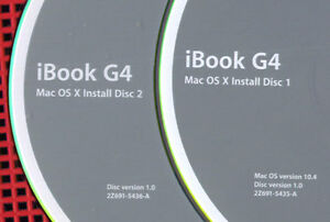 Apple Tiger 10.4 for iBook G4's see description