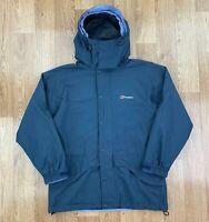 BERGHAUS Womens GORETEX Waterproof Coat | Hooded Outdoors Jacket | UK 12 Blue