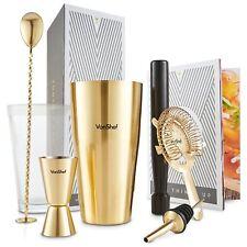 Vonshef Set Shaker per Cocktail Boston spazzolato Oro Luxury in (b3k)