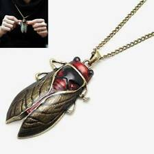 1pc  Charm Retro Vintage Bronze Tone Metal Insect Cicada Pendant Necklace Gifts