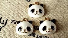 SMALTO PANDA & Gold Charm Jewellery Supplies C257