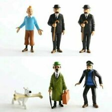6PCs/set Anime Cartoon The Adventures of Tintin PVC Action Figures Model Kids