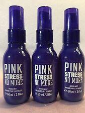 3 VICTORIA'S SECRET PINK STRESS NO MORE MOOD MIST FINE FRAGRANCE BODY SPRAY 2 OZ