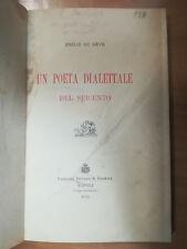 UN POETA DIELETTALE DEL SEICENTO EMILIE DU REVE DIALETTO NAPOLETANO 1912