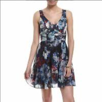 Bardot floral V neck tank mini dress
