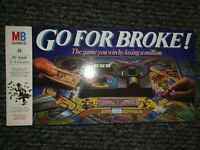 Vintage GO FOR BROKE excellent condition COMPLETE 1985 MB GAMES