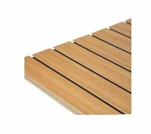 Slatwall Panel Oak 1200mm x 1200mm sq