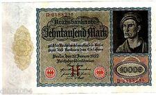 Allemagne GERMANY REICHSBANKNOTE Billet 10000 MARK 1922 P70 WITH LETTER BON ETAT