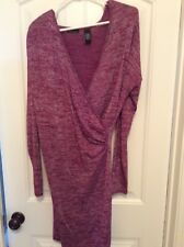 Victoria's Secret/Moda International Faux Wrap Dress in magenta with silver xl