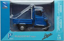 NEWRAY-PIAGGIO APE 50 CROSS BLU 1:18 Nuovo/Scatola Originale Vespa-Triciclo