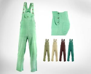 100% COTTON  Dungarees / Jump Suit - Loose Ankles