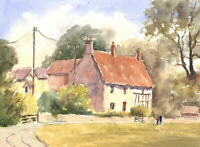 John A. Case - 20th Century Watercolour, Cottages In The Countryside