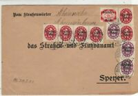 Germany 1922 Inflation Official Stamps Cover ref 22915