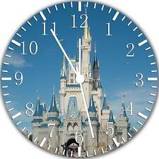 Disney Castle Frameless Borderless Wall Clock Nice For Gifts or Decor W300