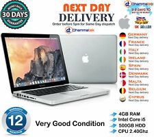 "Apple MacBook Pro 13.3"" Intel Core i5 2.4GHz 4GB RAM 500GB HDD Late 2011 B+Grade"