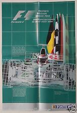 Orginal Plakat - FOSTERS BELGIAN GRAND PRIX 2000 - GP Spa Francorchamps Formel 1