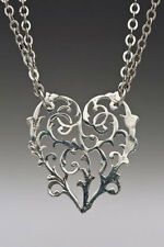 Artisan Silver Spoon Jewelry - ALICIA Necklace - #SS-ALICIA-HND