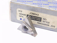 NEW SURPLUS 1PC. VALENITE  TNMC 66NGR W.293  GRADE: VC2  CARBIDE INSERT