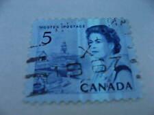 Canada shifted, distorted winnipeg tag error in 5c centennial Sc 458p used