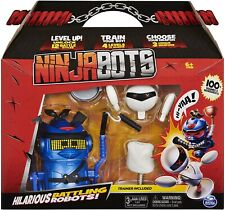 Ninja Bots Hilarious Battling Robot with 3 Weapons & Trainer - Blue - New 2020