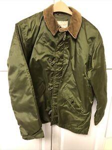 Avirex VINTAGE 1983 US NAVY Extreme Cold Impermeable Deck Jacket Medium USN