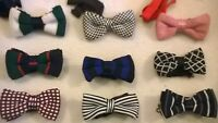 Knitted wool bow tie Vintage style neck bowtie NEW, Fashionable wedding prom etc