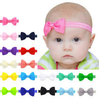 10pcs Mini Bowknot Hair Band Baby Kids Girls Elastic Headband Lovely Headwear B~